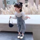 女童套裝女童套裝兩件套韓版洋氣兒童寶寶牛仔吊帶褲春秋