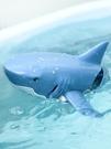 遙控船 仿真鯊魚玩具電動遙控船會游泳的大白鯊兒童戲水男孩子會游動假魚【快速出貨八折鉅惠】