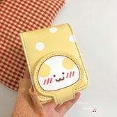 日韓卡通口紅包化補妝包可愛波點零錢包卡包女【雲木雜貨】