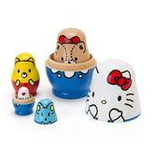 【震撼精品百貨】Hello Kitty_凱蒂貓~ Sanrio 溫情貼心系列好朋友木製俄羅斯娃娃#06216
