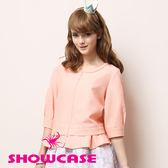 【SHOWCASE】甜美寬袖荷葉拼接下襬外套/小禮服外套(粉)-早秋精選外套