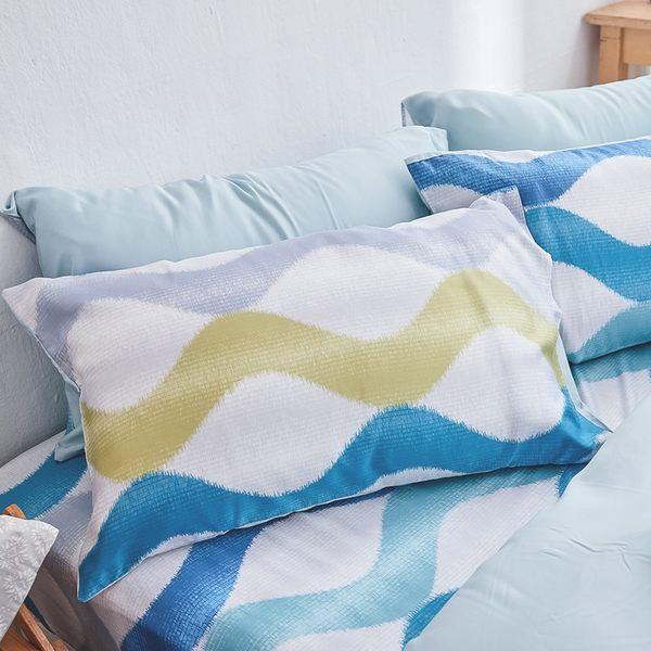 床包 / 雙人【波光粼粼】含兩件枕套  100%天絲  戀家小舖台灣製AAU201