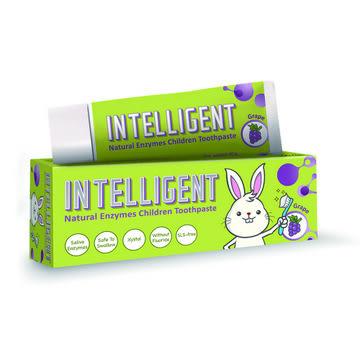 專品藥局 Intelligent 因特力淨 兒童酵素牙膏 40g (葡萄/草莓優格/原味) 三種可選 可吞食不含發泡劑