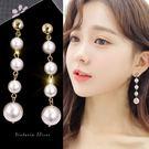 925純銀針  韓國優雅氣質  優雅名媛珍珠耳環-維多利亞181214