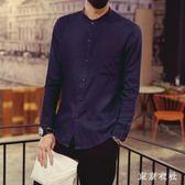 中大尺碼唐裝 中國風長袖襯衫亞麻襯衣修身中式復古襯衫 QQ8355『東京衣社』