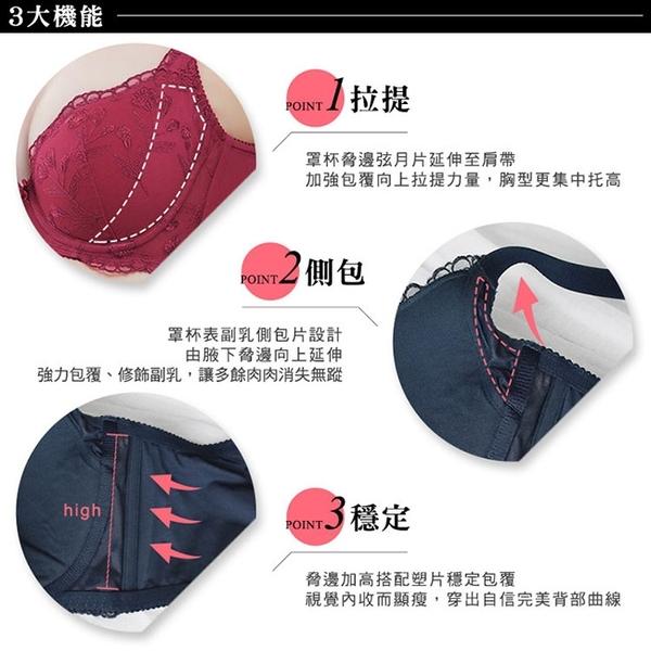 EASY SHOP-香芬開運 大罩杯B-E罩內衣(知性藍)