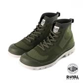 Palladium 新竹皇家 Pampa 軍綠色 織布 透氣 輕量 高統 軍靴 男女款 NO.B0600