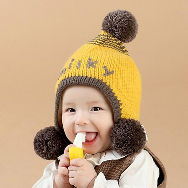 [現貨] milky字母兒童毛線保暖護耳帽 HBY21179