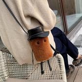 秋冬流行包包女包新款可愛毛毛絨網紅時尚百搭側背斜挎包ins  魔法鞋櫃