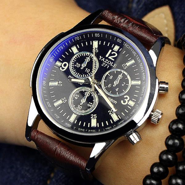 韓版夜光手錶 男士時尚潮流超薄運動石英錶 休閒復古學生腕錶   檸檬衣舍