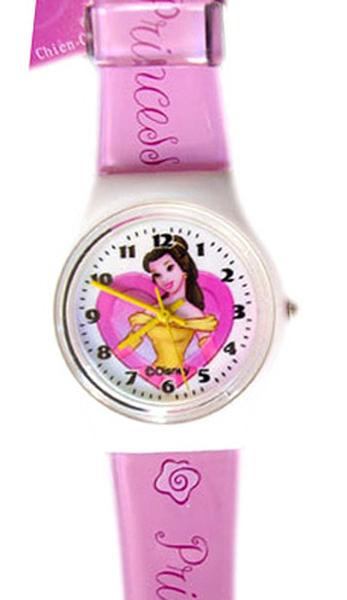 【卡漫城】 貝兒 手錶 ㊣版 Belle 美女與野獸 卡通錶 女錶 兒童錶 塑膠錶