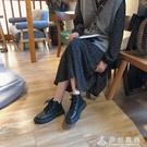 春秋季chic馬丁靴女新款英倫風潮ins網紅機車小短靴平底百搭 伊衫風尚