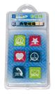 自強牌  MS254  彩色方型玻璃磁鐵(一打裝)