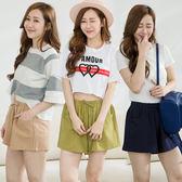 【IMACO】純色韓版顯瘦純棉休閒短褲3件組
