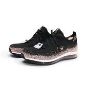 SKECHERS ELEMENT SWEET SUNSET 黑粉 金蔥 襪套 氣墊 慢跑鞋 女(布魯克林) 12647BKRG