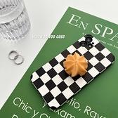韓國ins復古黑白棋盤格曲奇餅乾支架蘋果手機殼 iphone12/11Promax/Xr/78Plus/Xsmax