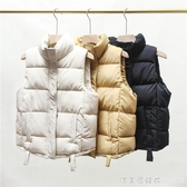 2020新款韓版面包服馬甲女秋冬外穿寬松羽絨棉坎肩背心馬夾短外套 美眉新品