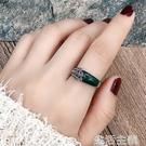 戒指 巴洛克戒指女中食指環宮廷風仿紅寶石鑲鉆銀色個性潮流時尚裝飾品 生活主義