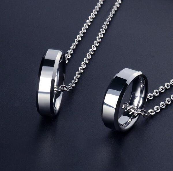 嘻哈戒指項鍊鎢金吊墜情侶掛件掛墜配飾品