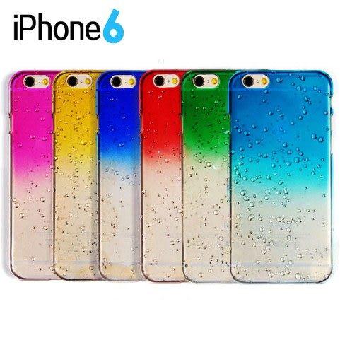 [24hr 火速出貨] 蘋果 iphone6 手機殼 手機套 立體 雨滴 漸變 漸層 手機殼 iphone6 plus
