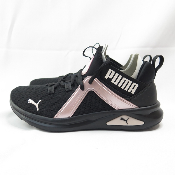 PUMA ENZO 2 SHIMMER 女款 慢跑鞋 襪套式 19371402 黑x粉【iSport愛運動】
