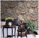 復古石塊石頭石紋文化石大理石紋壁紙客廳餐廳酒店酒吧咖啡廳牆紙