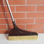 加長桿豬鬃毛掃把單個家用不銹鋼桿軟毛掃把掃地笤帚掃帚清掃灰塵DI