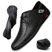 皮鞋 駱駝男鞋冬季商務男士棉鞋真皮休閒皮鞋男中年軟底加絨鞋子DF