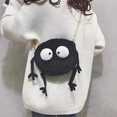 秋冬包包女新款毛毛包个性卡通单肩包chic链条少女煤球斜背包