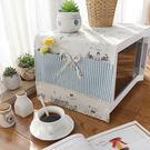 可愛時尚棉麻蓋布 餐具 微波爐 烤箱 冰箱 (33*105cm)