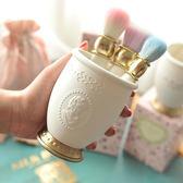 筆筒化妝刷收納筒桌面化妝韓國公主風辦公家用多功能樹脂材質   初見居家