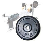 啞鈴槓片│5KG包膠槓鈴片(單片5公斤)槓片.啞鈴.舉重量訓練.運動健身器材.推薦哪裡買專賣店