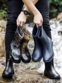 雨鞋雨鞋男加絨中筒防水鞋冬季膠鞋防滑勞保洗車工地時尚保暖雨靴 交換禮物