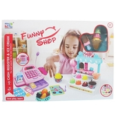 粉紅超市收銀機玩具 冰淇淋小舖 888-8(附電池)/一個入(促1000) 聲光過家家仿真收銀機帶計算機-生