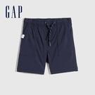 Gap男幼童 工裝風運動直筒短褲 759207-海軍藍