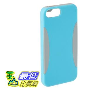 [106美國直購] AmazonBasics PC Silicon Case for iPhone 5S iPhone 5 - Cyan Blue  Grey