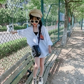 米米果女童白色襯衫夏長袖薄款2019新款韓版兒童中大童洋氣襯衣潮 嬌糖小屋