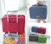✭米菈生活館✭小飛機可折疊大容量旅行袋 肩背包 收納包收納袋盥洗包 包中包 外掛防水包【B17】