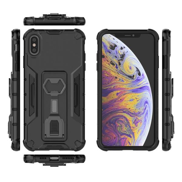 蘋果 iPhone XR XS MAX iX i8+ i7+ SE 2020 機械手臂 手機殼 全包邊 支架 防摔 保護殼