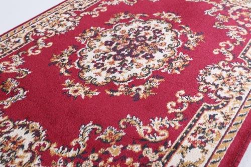 范登伯格 紅寶石輕柔絲質感地毯-踏墊-門墊-花園紅-100x140cm