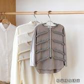 海綿防滑多層衣架不銹鋼衣架子 易樂購生活館