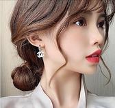 高級感耳環2020年新款潮小香風雙C耳飾品韓國氣質網紅純銀耳釘女「草莓妞妞」