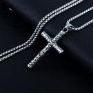 鈦鋼個性化復古圖騰十字架項鍊