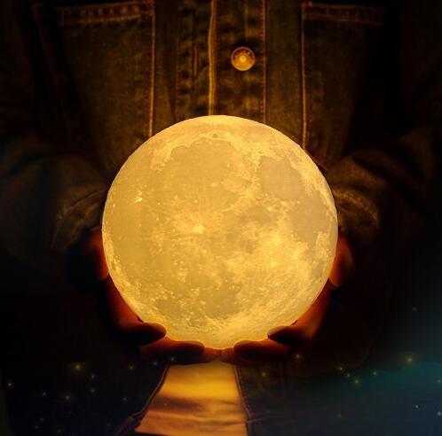 星空燈 3D月球燈月亮燈創意小夜燈浪漫夢幻星空燈睡眠臥室床頭臺燈磁懸浮【快速出貨八折下殺】
