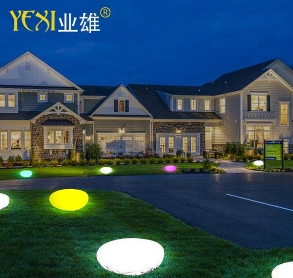 免運 led發光石頭燈戶外裝飾燈景觀庭院草坪燈花園防水仿真鵝卵石燈