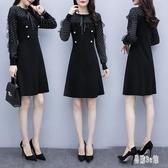 禮服洋裝女 2020春秋新款韓版時尚簡單大方氣質短款法式晚禮服連身裙 YN4037『易購3c館』
