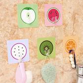 ◄ 生活家精品 ►【Z10-1】卡通水果無痕掛勾 廚房 浴室 防水 壁掛 黏貼 水洗 黏鉤 牆壁 免釘 懸掛