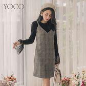 東京著衣【YOCO】法式甜美格紋毛呢背心裙洋裝-S.M.L(172485)