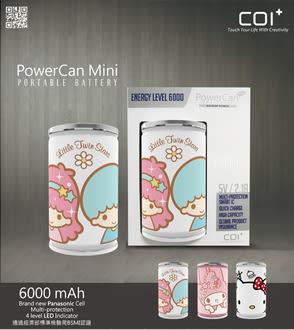 ❤最佳情人節禮物❤COI+ PowerCan 易開罐行動電源 6000mAh Mini My Melody、Mini Hello Kitty