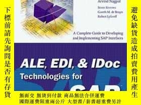 二手書博民逛書店Ale,罕見Edi & Idoc Technologies For Sap-針對Sap的Ale、Edi和Idoc技